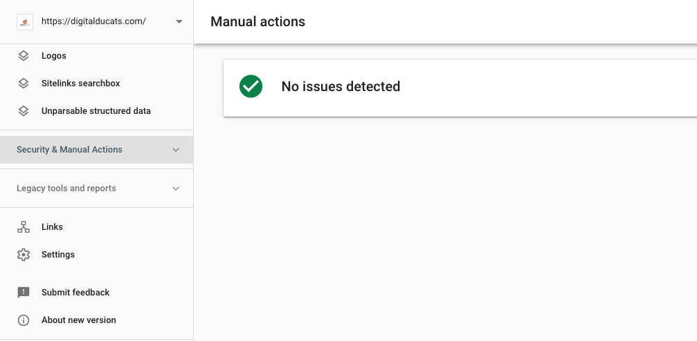 Your site receives alerts from Google regarding manual actions which could be a reason why your site doesn't appear on Google